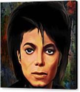 Michael Joseph Jackson  Canvas Print by Andrzej Szczerski