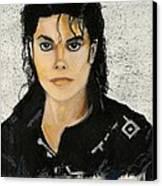 Michaeljacksoninoilpastel Canvas Print by Lance Sheridan-Peel