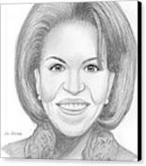 Michelle Obama Canvas Print by M Valeriano