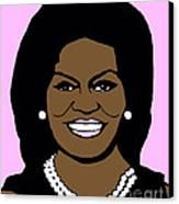 Michelle Obama Canvas Print by Jost Houk