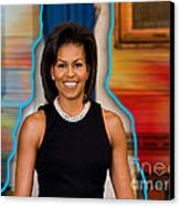 Michelle Obama Canvas Print by Marvin Blaine
