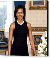 Michelle Obama Canvas Print by Official White House Photo