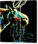 Midnight Moose Drool  Canvas Print by Teshia Art