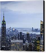 Midtown Manhattan Canvas Print by Ray Warren