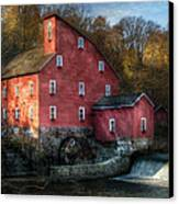 Mill - Clinton Nj - The Old Mill Canvas Print by Mike Savad