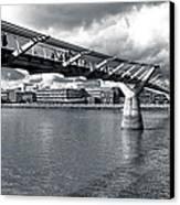 Millennium Foot Bridge - London Canvas Print by Mark E Tisdale