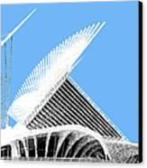 Milwaukee Skyline Art Museum - Light Blue Canvas Print by DB Artist