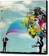 Mind Outburst Canvas Print by Gianfranco Weiss