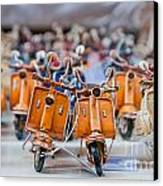 Mini Scooters Canvas Print by Marion Galt