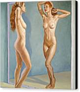 Mirror Image Canvas Print by Paul Krapf