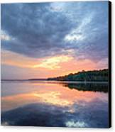 Mirrored Sunset Canvas Print by JC Findley