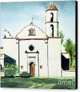 Mission San Luis Rey Colorful II Canvas Print by Kip DeVore