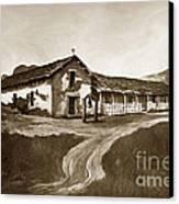 Mission San Rafael California  Circa 1880 Canvas Print by California Views Mr Pat Hathaway Archives