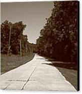 Missouri Route 66 2012 Sepia. Canvas Print by Frank Romeo
