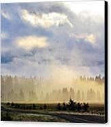 Misty Spring Morning Canvas Print by Annie Pflueger