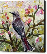 Mockingbird By My Window Canvas Print by Ginette Callaway