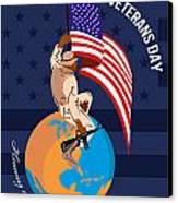 Modern American Veterans Day Greeting Card Canvas Print by Aloysius Patrimonio