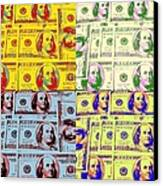 Modern Art Money Canvas Print by Kenneth Summers