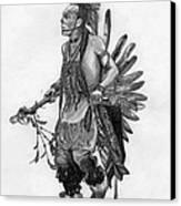 Mohawk Dancer Canvas Print by Lew Davis