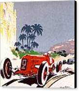 Monaco Grand Prix 1934 Canvas Print by Georgia Fowler