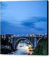 Monroe St Bridge At Sunset Canvas Print by Daniel Baumer