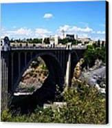 Monroe Street Bridge - Spokane Canvas Print by Michelle Calkins