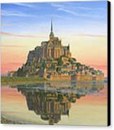 Mont Saint-michel Morn Canvas Print by Richard Harpum
