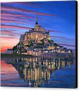 Mont Saint-michel Soir Canvas Print by Richard Harpum