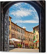 Montalcino Loggia Canvas Print by Inge Johnsson