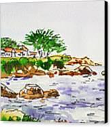 Monterey- California Sketchbook Project Canvas Print by Irina Sztukowski