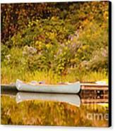 Montpelier Canoe Canvas Print by Deborah Benoit