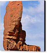 Monument Valley - The Thumb Canvas Print by Christine Till