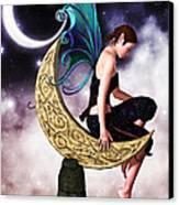 Moon Fairy Canvas Print by Alexander Butler