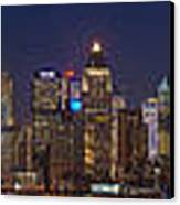 Moon Over Manhattan Canvas Print by Mike Reid