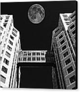 Moon Over Twin Towers Canvas Print by Samuel Sheats