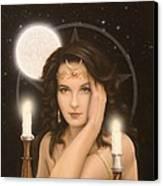 Moon Priestess Canvas Print by John Silver