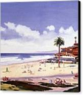 Moonlight Beach Encinitas Canvas Print by Mary Helmreich