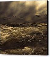 Moonlight On The Water Canvas Print by Bob Orsillo