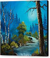 Moonlight Stream Canvas Print by C Steele