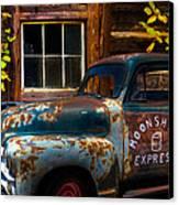 Moonshine Express Canvas Print by Debra and Dave Vanderlaan