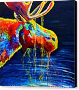 Moose Drool Canvas Print by Teshia Art