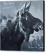 Moose Sketch Canvas Print by Aaron Blaise