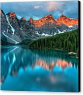 Moraine Lake Sunrise Canvas Print by James Wheeler