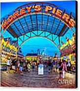 Moreys Piers In Wildwood Canvas Print by Mark Miller