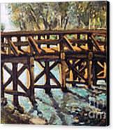 Morning At The Old North Bridge Canvas Print by Rita Brown