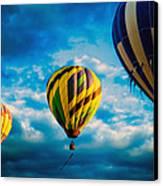 Morning Flight Hot Air Balloons Canvas Print by Bob Orsillo