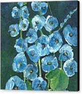 Morning Glory Greetings Canvas Print by Sherry Harradence