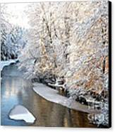 Morning Light Fresh Snowfall Gauley River Canvas Print by Thomas R Fletcher