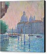 Morning Light From The Academia Bridge Canvas Print by Jackie Simmonds