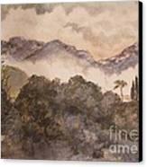 Morning Mist Pasadena Canvas Print by Nancy Kane Chapman